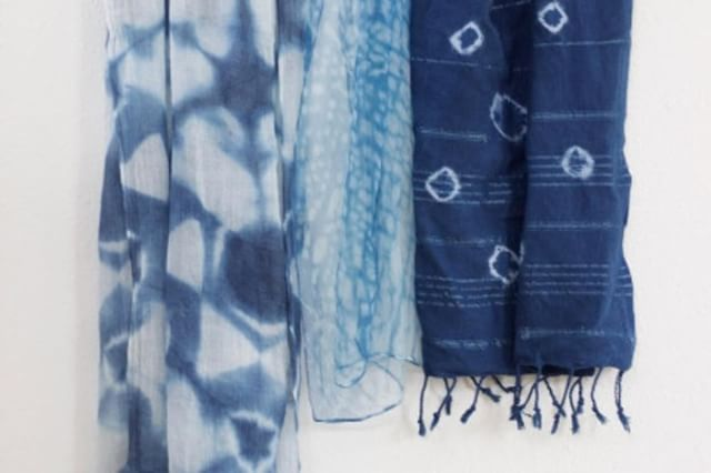 """Shibori"" is the Japanese term used for techniques in which dye is controlled to create designs & pa"
