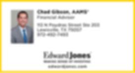 Chad Gibson, Edward Jones Business Card