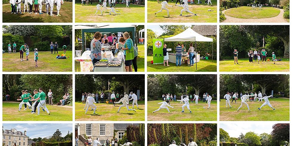 Fencing at Sausmarez Manor