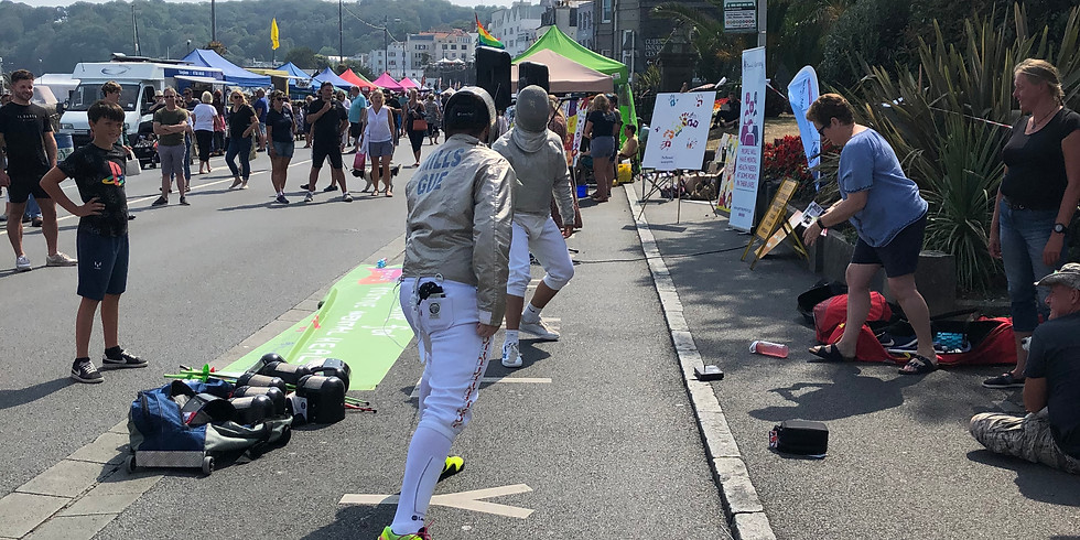 Fencing at Arts Seafront Sunday