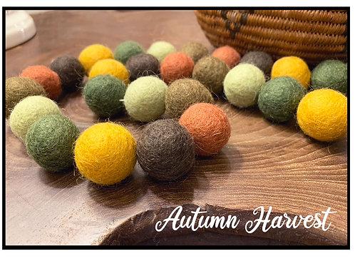 AUTUMN HARVEST wool felt ball garland