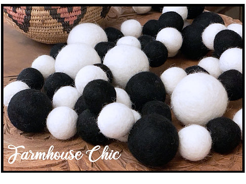 FARMHOUSE CHIC felt ball garland