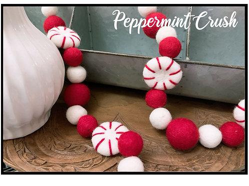 PEPPERMINT CRUSH felt ball garland
