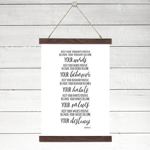 Words, Behavior, Habits, Values, Destiny