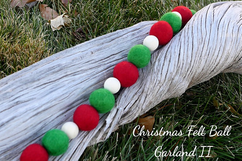Christmas Felt Ball Garland II