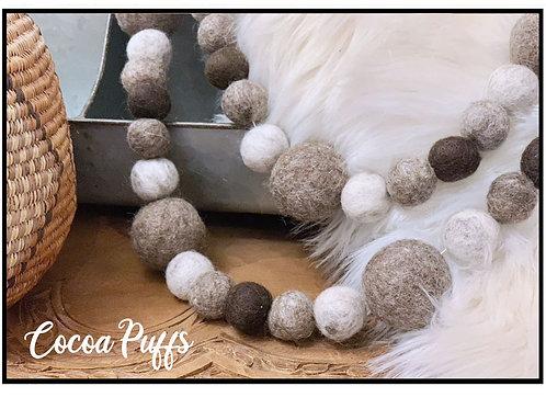 COCOA PUFFS felt ball garland