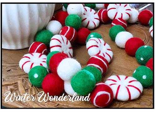 WINTER WONDERLAND felt ball garland