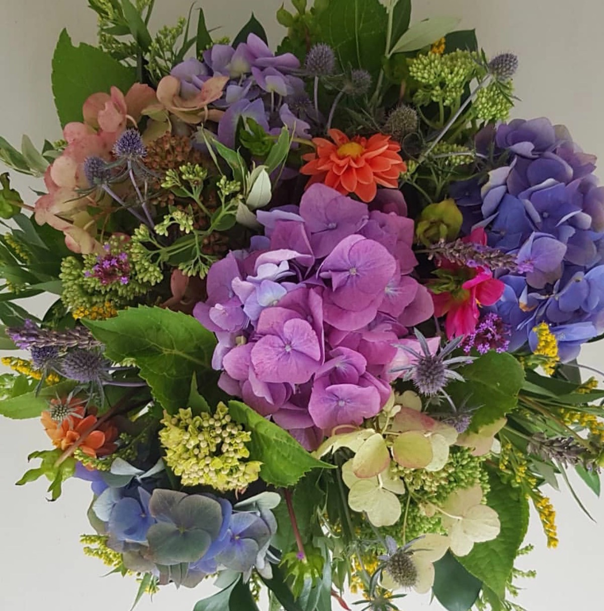 Colourful bowl arrangement