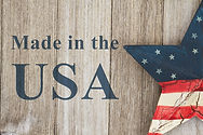 Made in the USA message, USA patriotic o