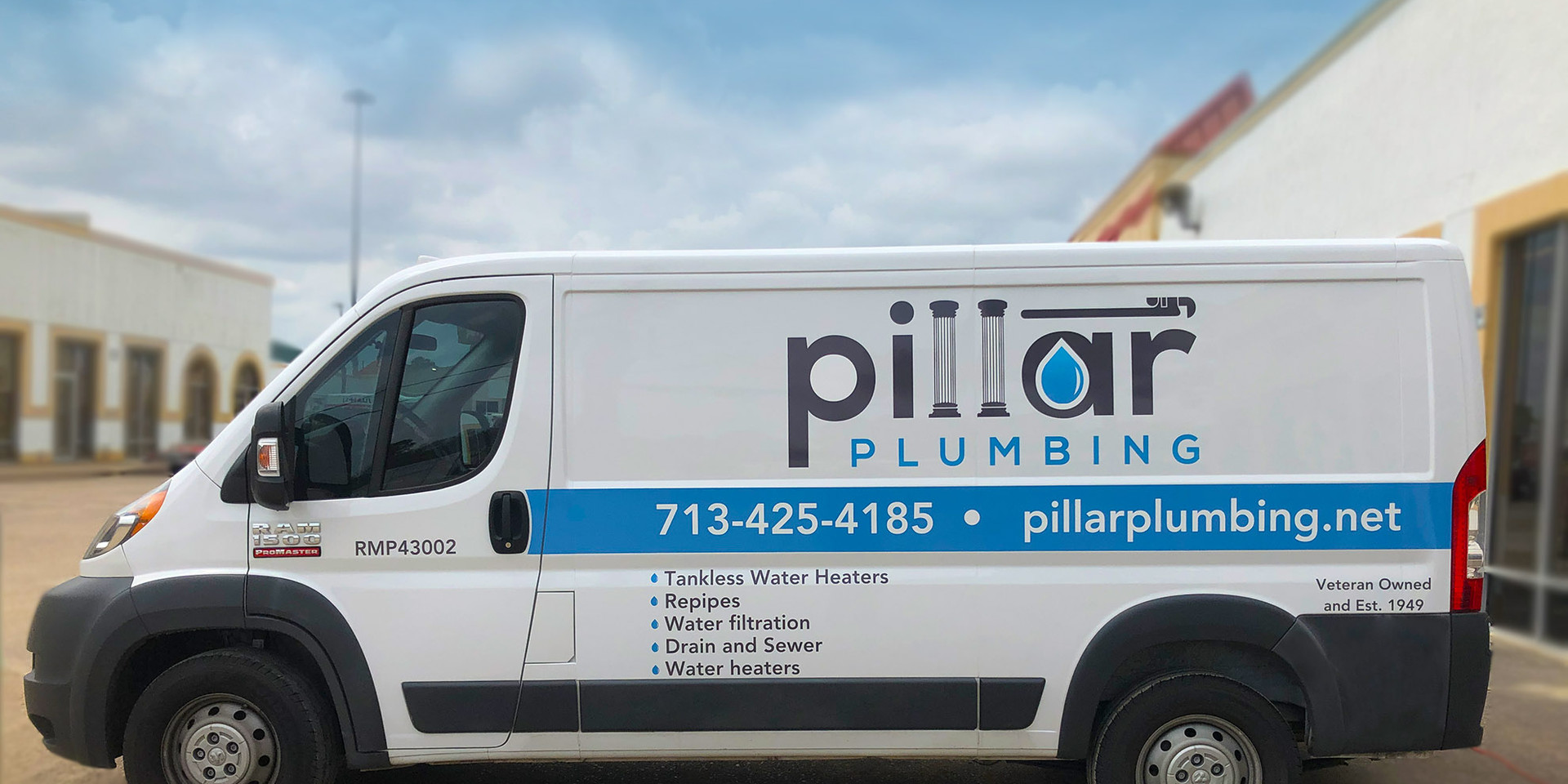 Pillar Plumbing Van Graphics