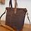 Thumbnail: Brown Waxed Canvas Tote Zipper Bag