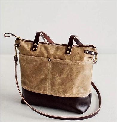 Yorkshire Fox Handbags   Handmade Waxed Canvas - leather- Tweed Handbags - Handmade in England