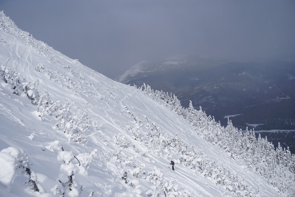 Skiing chic choc backcountry touring freeski