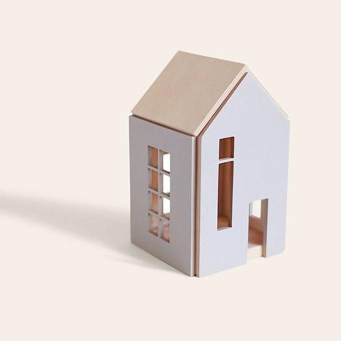 Maison de poupées aimantée à construire grise (M)