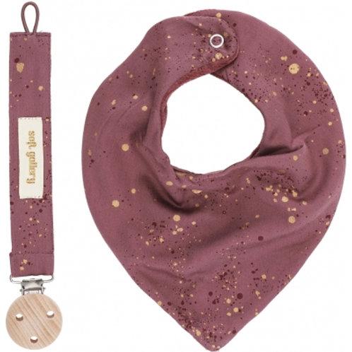 Coffret cadeau naissance (bandana et attache tétine)