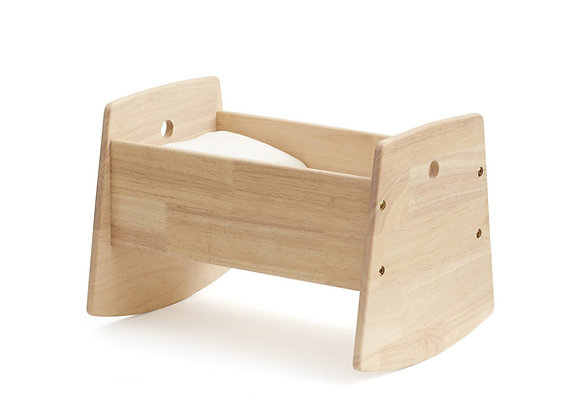 Berceau pour poupée en bois