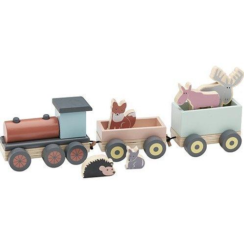 Train de jeux et ses animaux