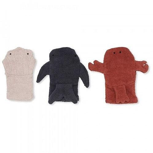 (09) Puppet washcloths (set of 3)