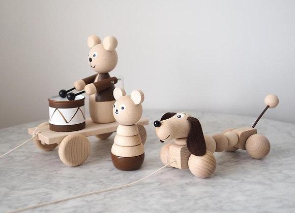 Coffret - 3 jouets en bois
