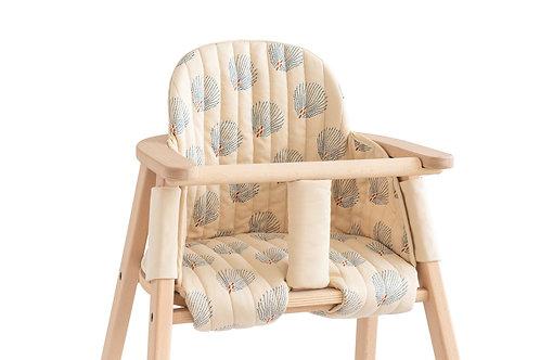 #Growing Green - Coussin pour chaise haute évolutive (blue gatsby cream)