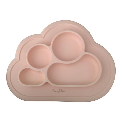 Plate with silicone compartments (dusty rose)
