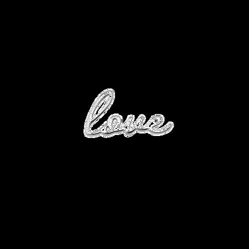 "Gri-gri ""Love""(finition argent)"