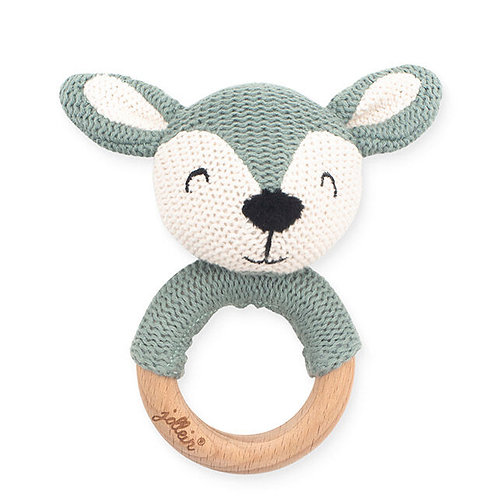 Teething ring (knit / wood)