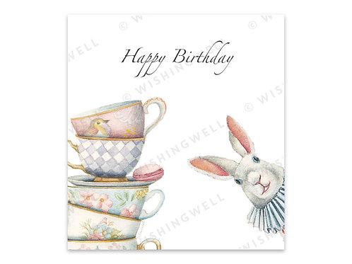 """Carte """"Happy birthday"""" (+enveloppe)"""