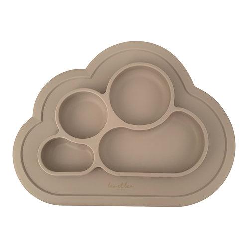 Assiette à compartiments silicone (beige)