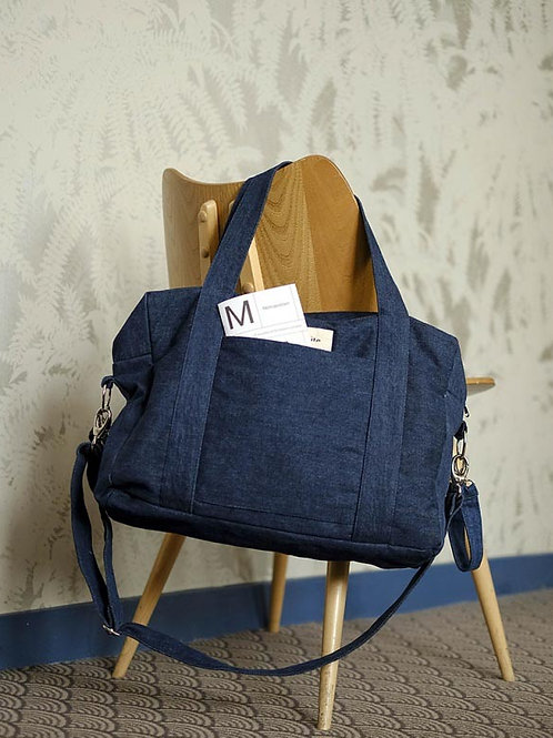 (09) Anti-diaper bag DARCY (dark denim)