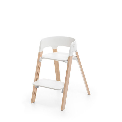 (05) Stokke Steps chaise haute évolutive (bois clair)
