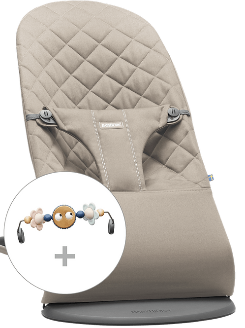 (10) Deckchair with cotton toys (sand gray)