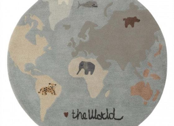 """Tapis """"Le monde""""*"""