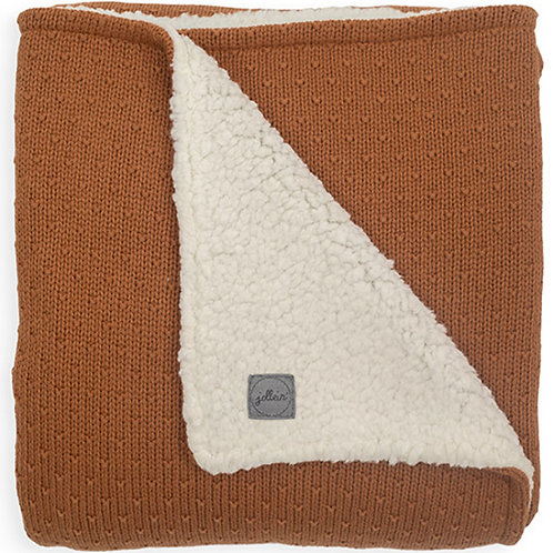 Couverture tricot Teddy Bliss Knit (caramel)