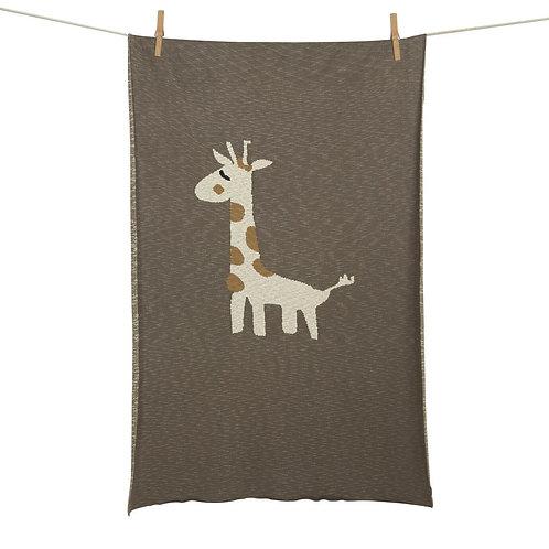 Couverture tricot Girafe (XL-lit)