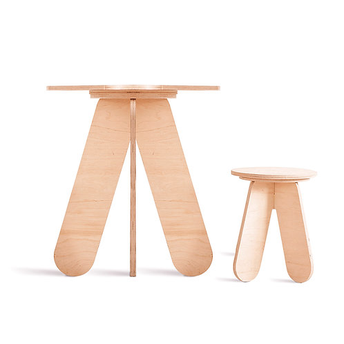 Table pour enfant StoolX (bois naturel)