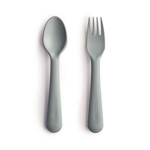 Cuillère et fourchette (vert sage)