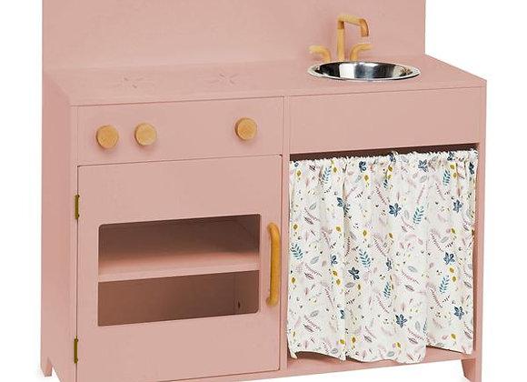 Cuisine en bois pour enfants (rose)