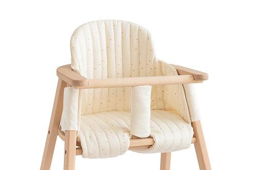 #Growing Green - Coussin pour chaise haute évolutive (honey sweet dots)