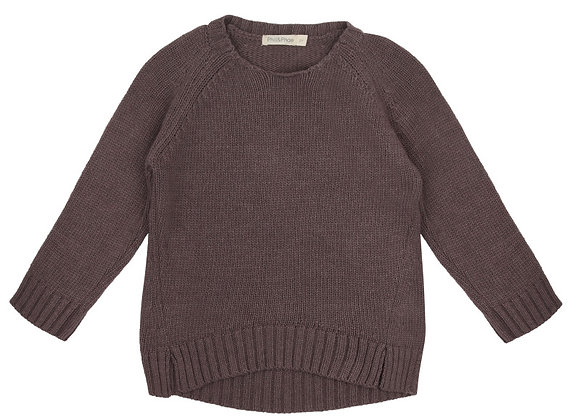Pull tricot cachemire (violet)