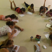 Coaching grupal con gimnastas