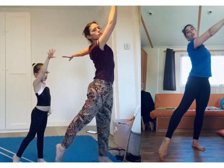 Irene y Marina, en una coreografía con Angi