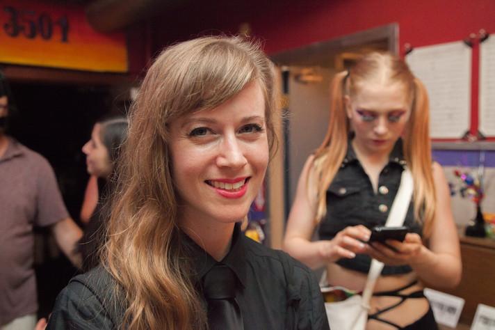 "Mandy Work Wetzel attends screening of ""Unknown"" at Prop Thtr's Goth Party. 📸 by Egon Schiele"