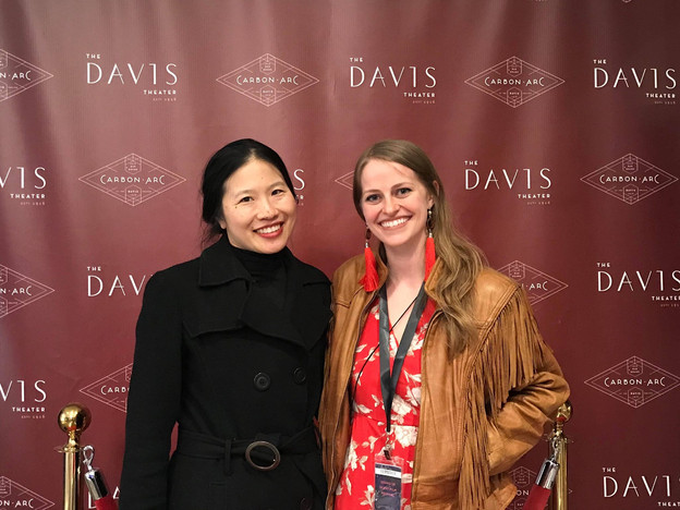 """Irene Hsiao and Shannon Metelko attend the screening of """"Unknown"""" at the Sound of Silent Film Festival."""