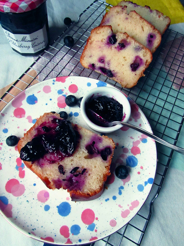 Vegan Blueberry Loaf with Jam