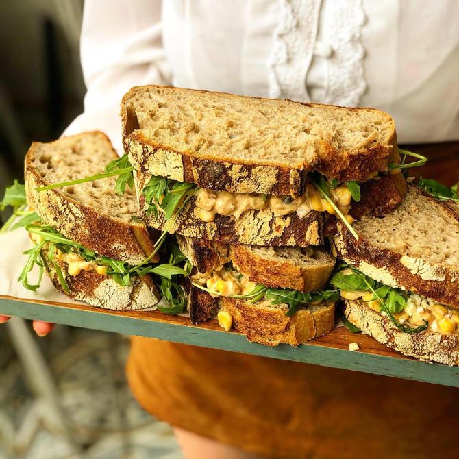 Super Easy VEGAN TUNA MAYO SANDWICH