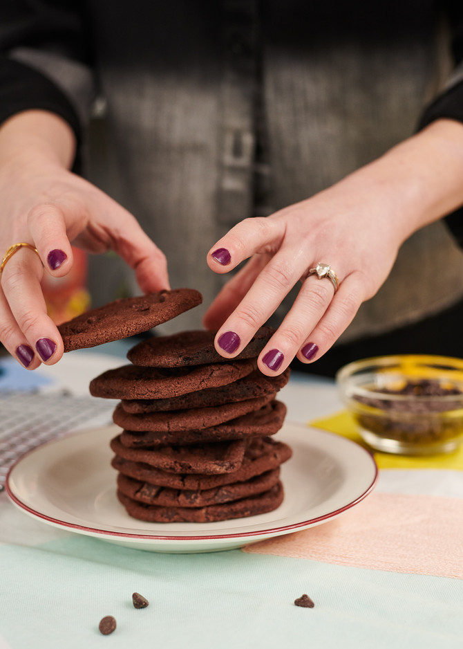 Super Easy Double Chocolate Cookies