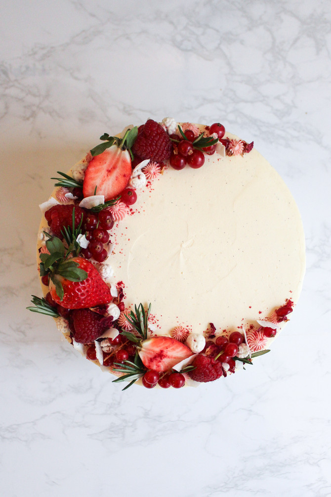 Vegan Victoria Sponge Celebration Cake