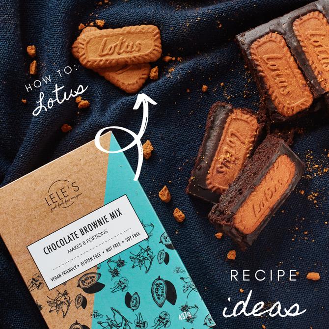 Recipe Ideas: Brownie Mix - Lotus and Chocolate