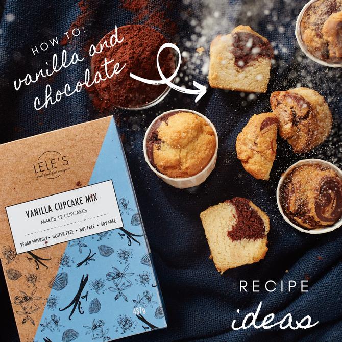 Recipe Ideas: Vanilla and Chocolate Marble Cupcakes